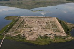 In the south-west of Republic Tuva, high in the mountains, on an island in the middle of Tere-Khol lake, there are ruins of an ancient Uighur fortress, which was built in VIII century C.E. it is one of the most mysterious archeological monuments of the world